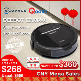 [Promotional Offer] ECOVACS DEEBOT OZMO 600 / Upgraded Robot Vacuum  Deep cleaner / Local Warranty