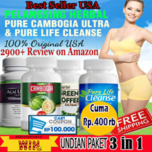 Pure Cambogia Ultra - Pure life cleanse - Pure Acai - EXP 2018 - GRAB IT FAST -- Free Undian Pure Acai dan Coffee + FREE ONGKIR  SELURUH INDONESIA + Voucher 50Rb + 100Rb + 200Rb