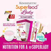 SUPERFOOD+ LADY SACHET 10s - 22 Multigrains FruitsnVeg [High in Calcium Iron and Folic Acid]