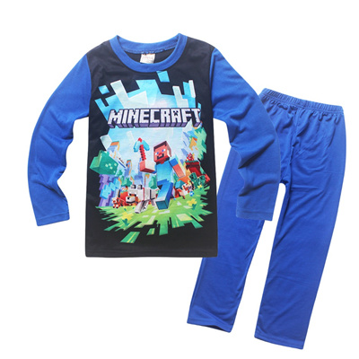 profiter de gros rabais véritable design élégant 2019 New Minecraft Pajamas for Girls kids Boys Children Clothing Set Youth  Pyjama Cartoon Pijamas Un