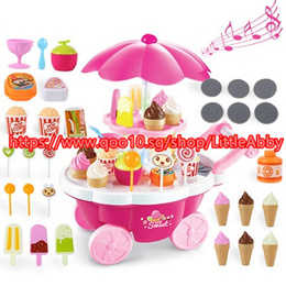 New Simulation Small Carts Girl Mini - Candy Cart Ice Cream Shop Supermarket Childrens Toys Playing