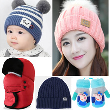 men/women/kids winter caps Hat scarf gloves socks shawl Leggings pants outdoor