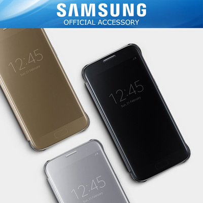 great fit ff807 083cb Samsung Original Clear View Cover Case For Galaxy S7 Flat