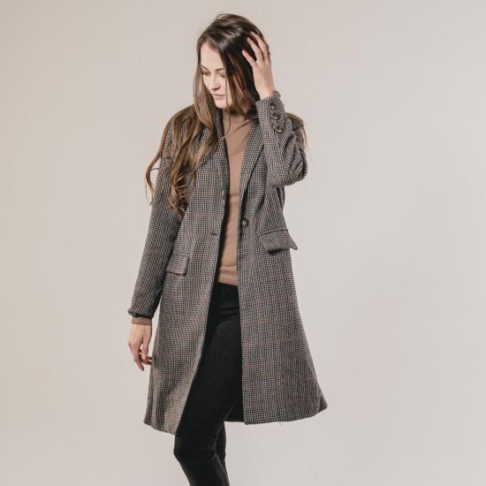 渓谷をの横に広がることグレンチェックのコート235180 面ワンピース/ 韓国ファッション