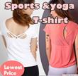 【SPTLOR】Sports wear Sports T-shirt★yoga wear/elastic T-shirt★Premium quality★ running tops