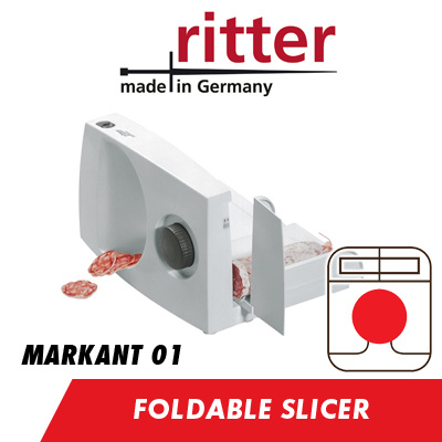 Ritter Markant 01 65W Foldable Food Slicer Cutter 17 cm Serrated Blade of  max 14mm thickness 76321ef1d5