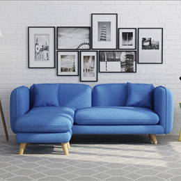 Home Factor/Furniture 2018 NEW /3 Seater Sofa With Stool/Living room sofa/Comfortable Sofa/BEST PRIC