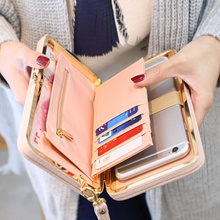 2017 Purse wallet female famous brand card holders cellphone pocket gifts for women money bag clutch