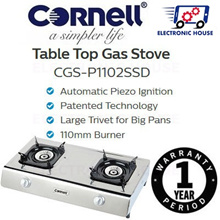 ★ Cornell CGS-P1102SSD Table Top Gas Stove ★ (1 Year Singapore Warranty)