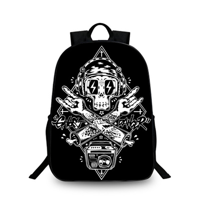 c8917d83a889 Big Sized Children Travel Backpack for School Printing Skull Men Laptop  Bagpack High Capacity Colleg