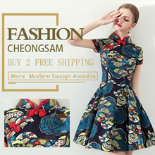 💕 Sepcail Promo  $18.8 💕2019 PREMIUM Modern Cheongsam/Qipao/ CNY Dress/Embroidery DRESS