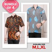 Bundle of 4!! Men Batik Shirt_Best Quality_FLAT PRICE