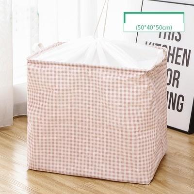 100L Drawstring Box Pink Checker