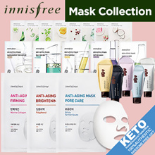 RESTOCKED[innisfree]New my real squeeze mask pack x10sheets/skin clinicx5/anti aging x3/coconut bio