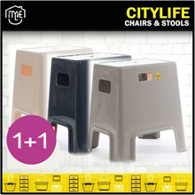 [ 1+1 ]Citylife Button Stool (Gloss) *  Holds up to 125kg! * Best Seller - Sturdy and durable design