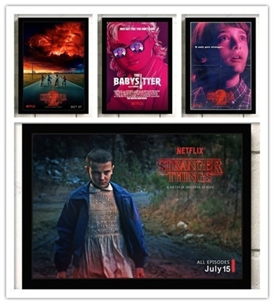 Qoo10 Stranger Things Vintage Retro Kraft Paper Home Bar Poster