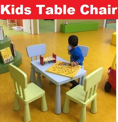 Wooden/Plastic Kids/Children Playing/Study/Learning/Education/Dining Furniture Table Chair Deals for only S$199 instead of S$199