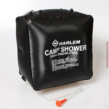 Portable Outdoor Camping Hiking Solar Heated Festival Camp Tent Shower Bag (Size: 40 l, Color: Black