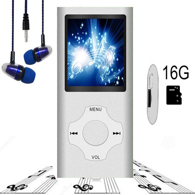 Hotechs  MP3 Player / MP4 Player, Hotechs MP3 Music Player with 16GB Memory  SD Card Slim Classic Dig