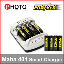 Maha Powerex Smart Pulse Faster Battery Charger MH-C401FS