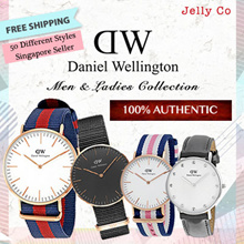 [SG SELLER~ FREE DELIVERY] Daniel Wellington Authentic Men Women White Black Nylon Leather Watch