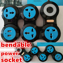 Bendable USB power socket/extension USB power outlet/universal ports for all plugs/USB charges