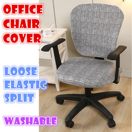 Split elastic Office Chair Cover Washable dinning Computer Chairs covers  study work from home