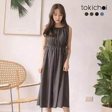 TOKICHOI - V-Neck Sleeveless Knitted Jumper Dress - 182319