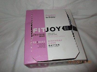 FitJoy Birthday Cake Batter Protein Bar 12 BARS