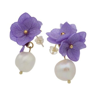 PARISIENNE Purple Flower with pearl Botanical