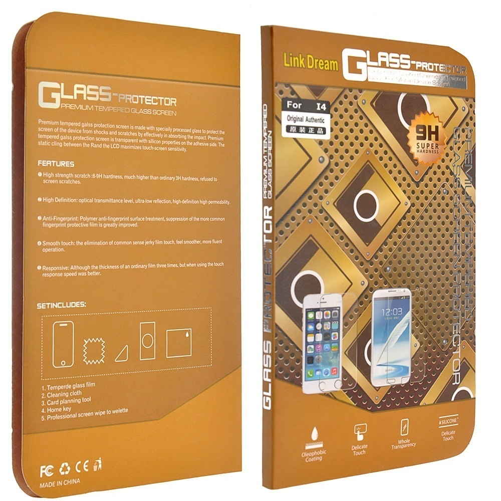 2 5D Protection Film Tempered Glass Screen Protector Anti-shatter for  iPhone 4/ 4S
