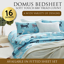 DOMUS Soft Touch 880 Thread Count Fitted Bed sheet Set / 16 DESIGN