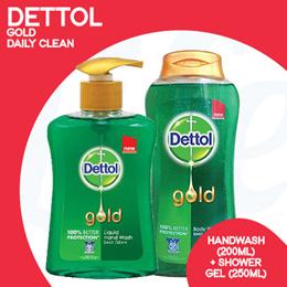 [RB]【Dettol Bundle worth $10.30】Dettol Gold Handwash 200ml + Dettol Gold Shower 250ml x 2