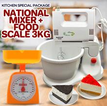 Paket Murah Mixer + Timbangan Kue 3kg Free Ongkir Jabodetabek