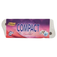 Cutie Compact Special 3Ply 10 Rolls (Bundle 3 units) [TOTAL 30 Rolls] + FREE GIFT (Include Shipping)