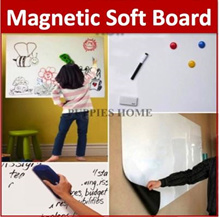 Dry Erase Flexible Magnetic Whiteboard Wall Sticker/kids sketchpad/Memo/0.7mm Thick