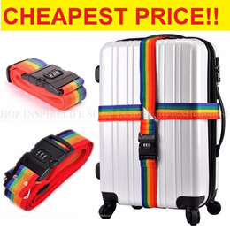 ★CHEAPEST★LUGGAGE BELT WITH LOCK★ TSA SECURITY LOCK BAGGAGE BELT BAGGAGE STRAP