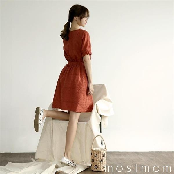 パンチングワンピースM1727759 new ノースリーブ/トップワンピース/ワンピース/韓国ファッション