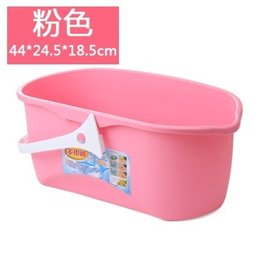 【Jam mom】VAT thickening rectangle mop wash mop bucket packed B438 bucket flat cleaning barrel hand-h