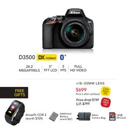 Nikon D3500/D5600 DSLR Camera Kit 2-Year LOCAL WARRANTY by NIKON SINGAPORE *FREE GIFTS*