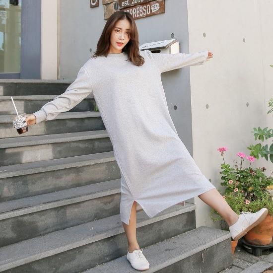 クルリクエンミ、アンダーカバーロングワンピース 綿ワンピース/ 韓国ファッション