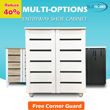 [Multi Options] 2 Doors Classic Style Wooden Entryway Shoe Cabinet/Shoe Storage Organizer/Shoe Rack