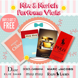 [Hottest Buy 2 Free 2] Choose Any 4 Perfume Vials For Her And Him!