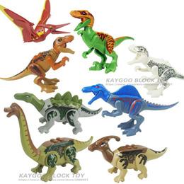 online 8pcs/set Dinosaurs Jurassic World Dinosaurs Figures Jurassic Building horse Tyrannosaurus Ass
