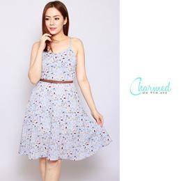 Ambre Summer Dress - Baby Blue