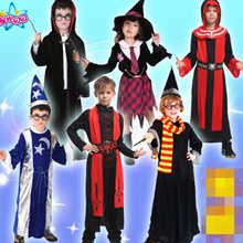 Male and female magician wizard Harry Potter performance clothing