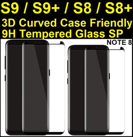 ★ Samsung Note 8 / S8 / S8+ / S8 Plus / S7 Edge Plus Full Coverage Tempered Glass Screen Protector