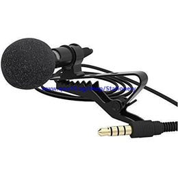 Lavalier Lapel Microphone Clip-on Omnidirectional Condenser Mic for Apple iPhone, iPad, iPod Touch,