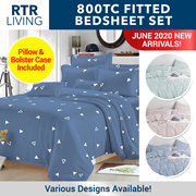 ★ GroupBuy Special ★ Premium Fitted Bedsheet Set with Pillow and Bolster Case ★ Mattress Protector