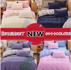 NEW ARRIVAL! BED SHEETS / 30++ DESIGN/  Student dormitory single 1.5m solid spring and summer bed four sets of double bed sheets quilt plain Shuangpin three - piece